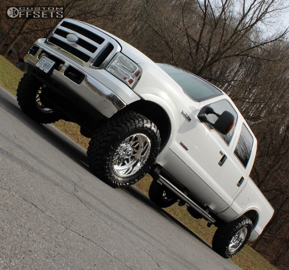 4 2005 F 250 Super Duty Ford Leveling Kit American Force Trax Ss Polished Aggressive 1 Outside Fender