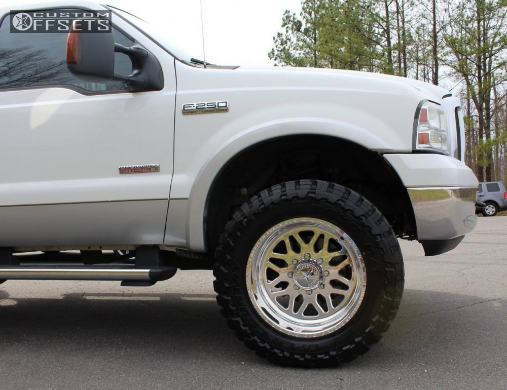 5 2005 F 250 Super Duty Ford Leveling Kit American Force Trax Ss Polished Aggressive 1 Outside Fender