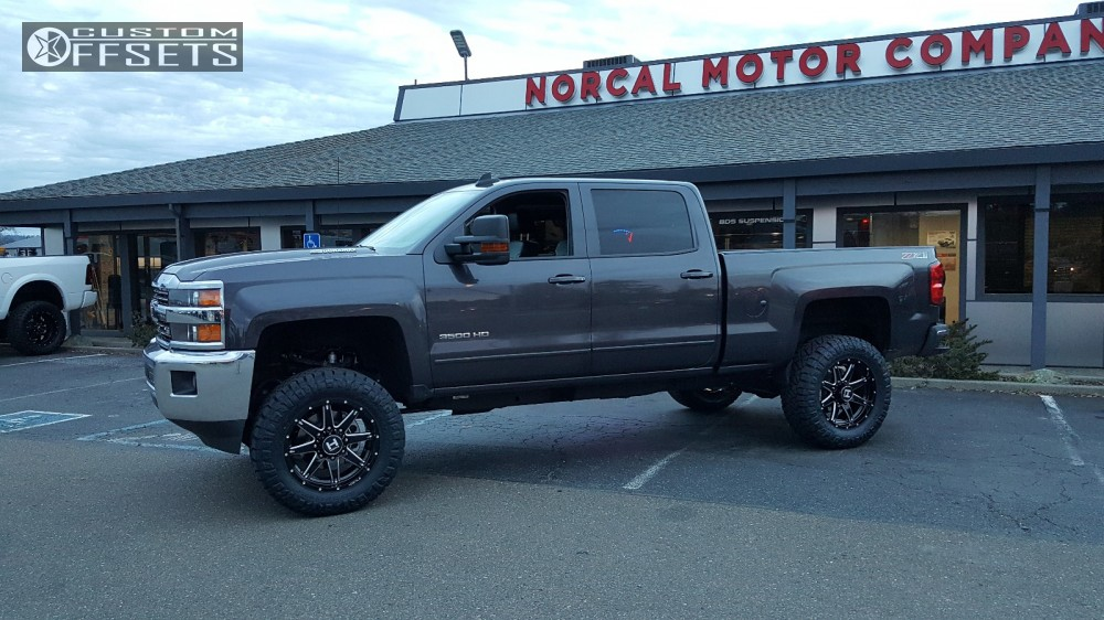 2 2016 Silverado 2500 Hd Chevrolet Suspension Lift 4 Hostile Alpha Machined Black Aggressive 1 Outside Fender