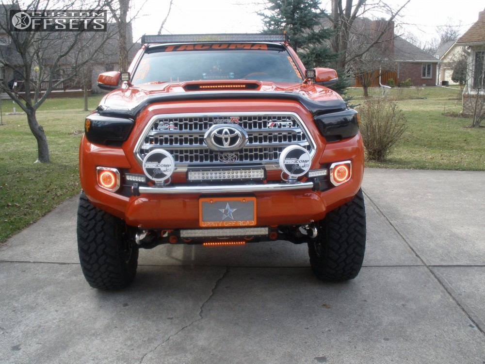 7 2016 Tacoma Toyota Suspension Lift 6 Fuel Hostage Chrome Slightly Aggressive