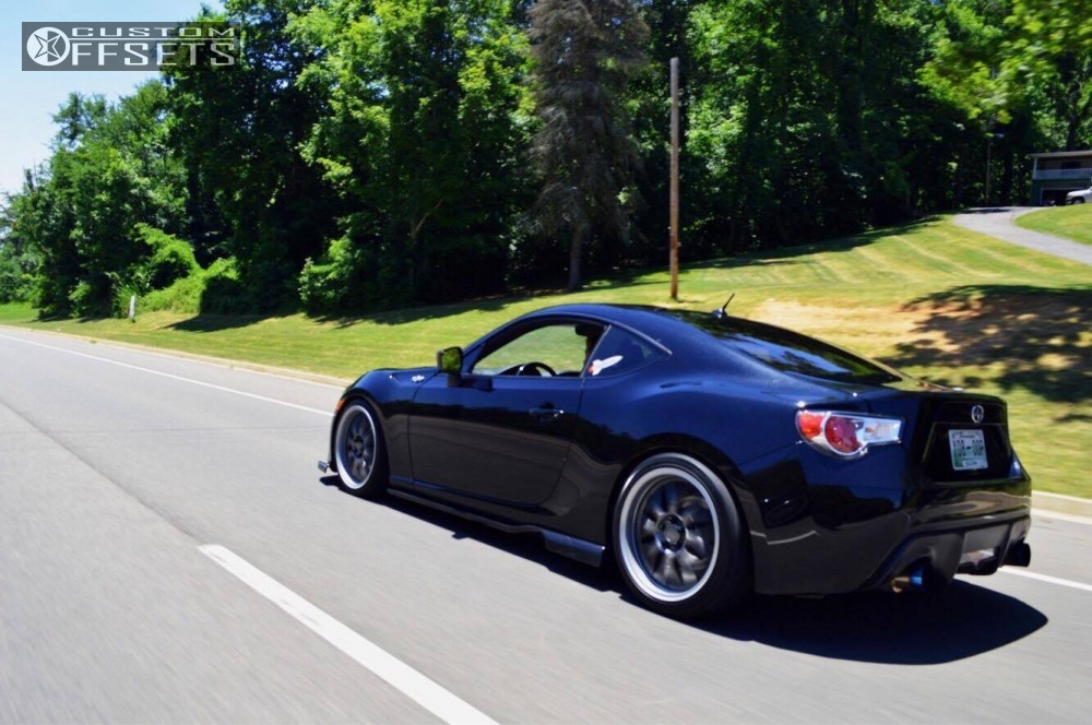 wheel offset 2014 scion fr s nearly flush coilovers. Black Bedroom Furniture Sets. Home Design Ideas