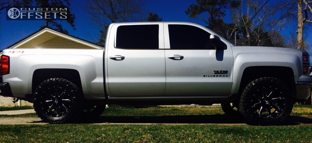 1 2014 Silverado 1500 Chevrolet Leveling Kit Hostile Alpha Machined Black Slightly Aggressive
