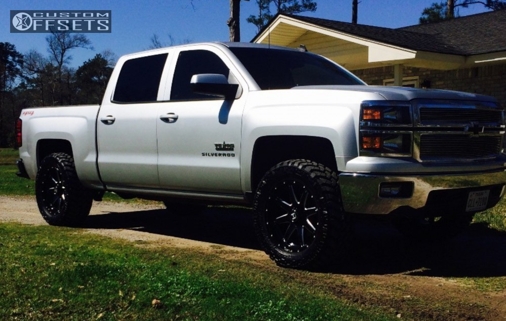 12 2014 Silverado 1500 Chevrolet Leveling Kit Hostile Alpha Machined Black Slightly Aggressive
