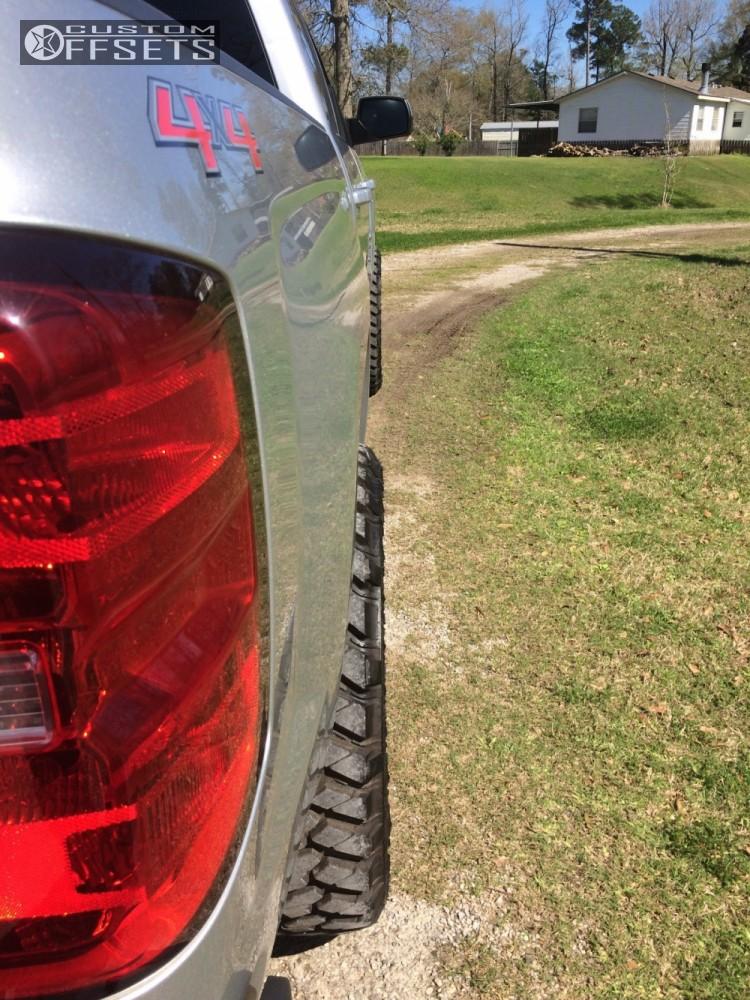 13 2014 Silverado 1500 Chevrolet Leveling Kit Hostile Alpha Machined Black Slightly Aggressive