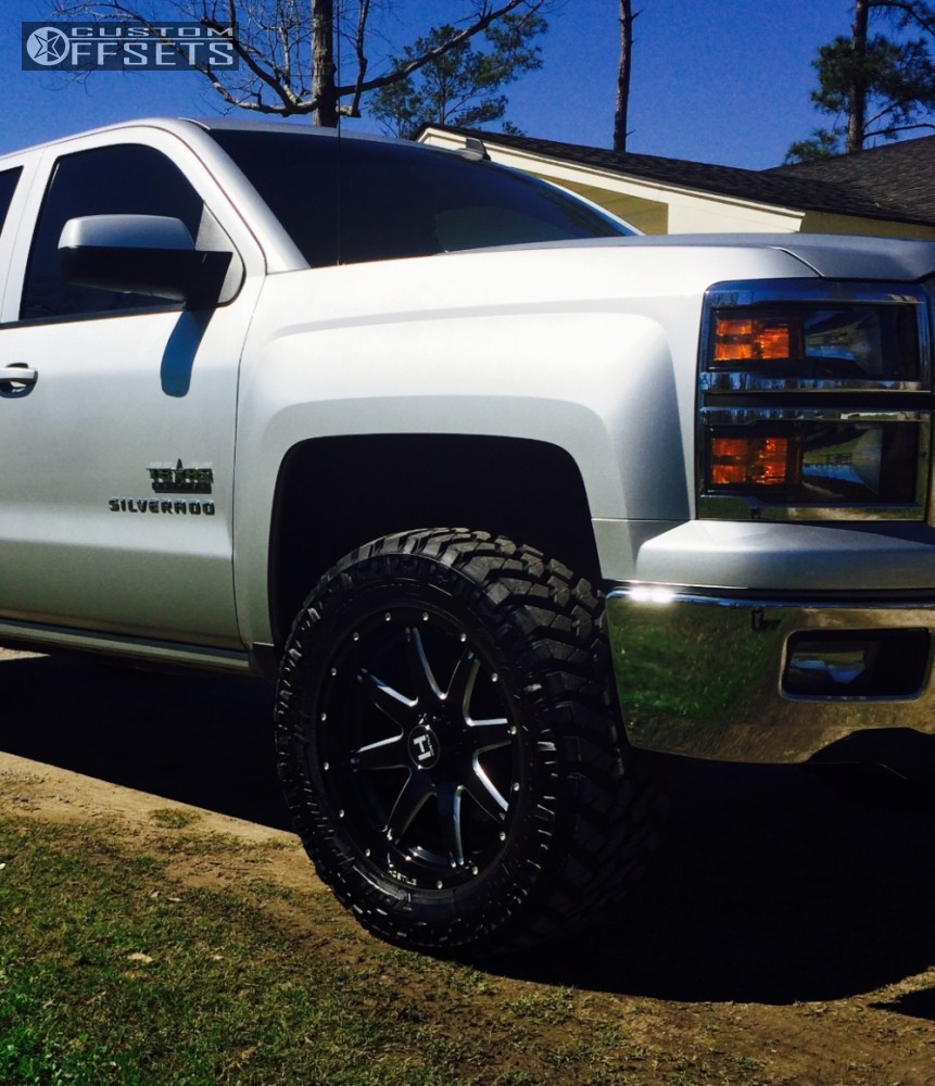 14 2014 Silverado 1500 Chevrolet Leveling Kit Hostile Alpha Machined Black Slightly Aggressive