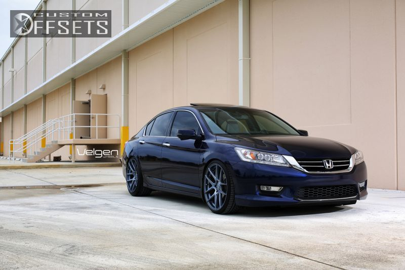 Honda Accord Sport Rims >> Wheel Offset 2013 Honda Accord Flush Dropped 1 3 Custom Rims