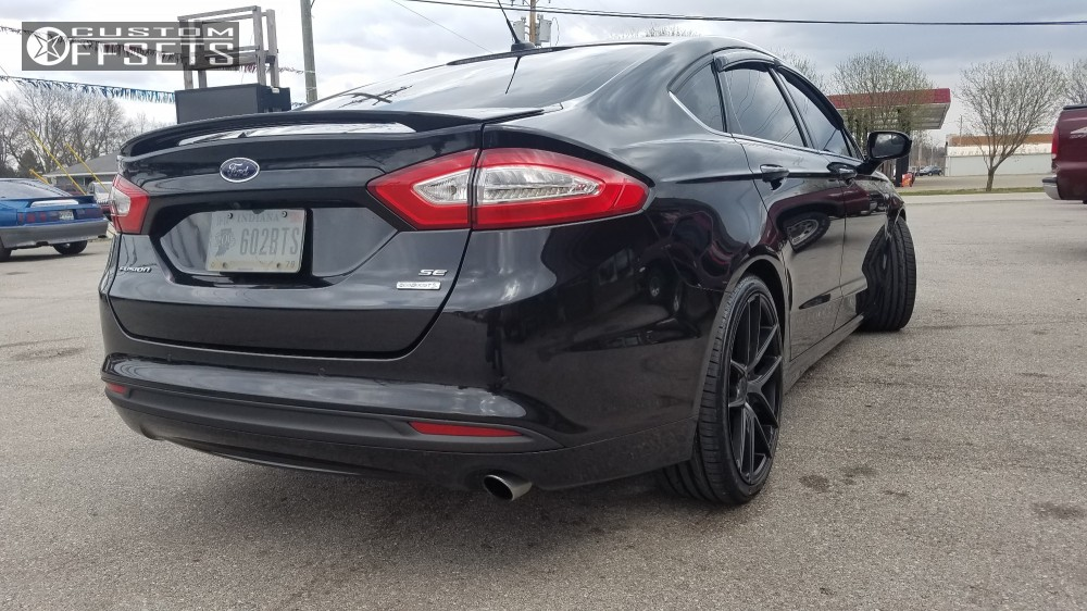 2014 Ford Fusion Tires >> Wheel Offset 2014 Ford Fusion Flush Lowered On Springs