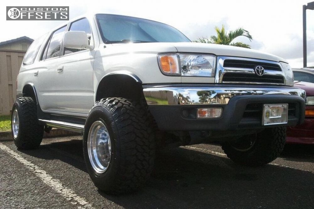 1 1999 4runner Toyota Suspension Lift 4 Mickey Thompson Classic Ii Polished  Hella Stance 5 ...