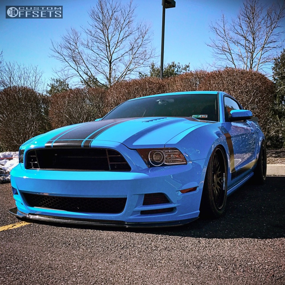 wheel offset 2013 ford mustang tucked bagged. Black Bedroom Furniture Sets. Home Design Ideas