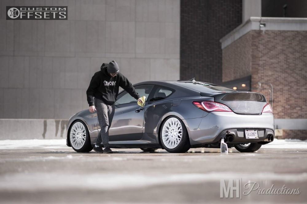 ... 4 2014 Genesis Coupe Hyundai Coilovers Niche Citrine Custom Tucked ...