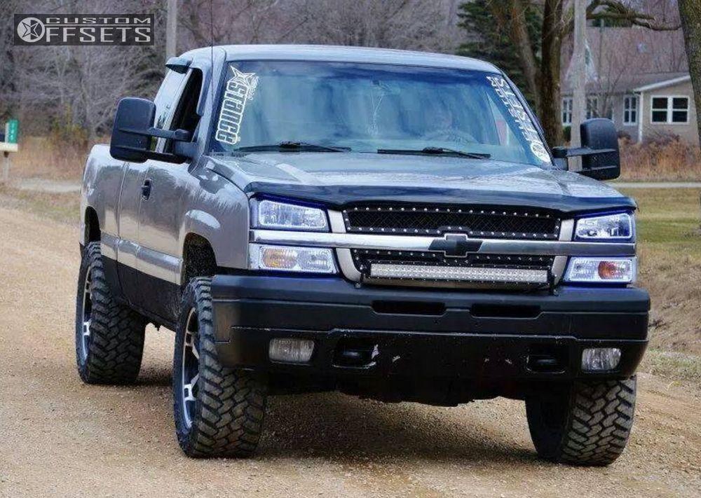 1 2003 Silverado 1500 Chevrolet Leveling Kit Body Lift Liquid Metal Dyno 6 Machined Accents Slightly Aggressive