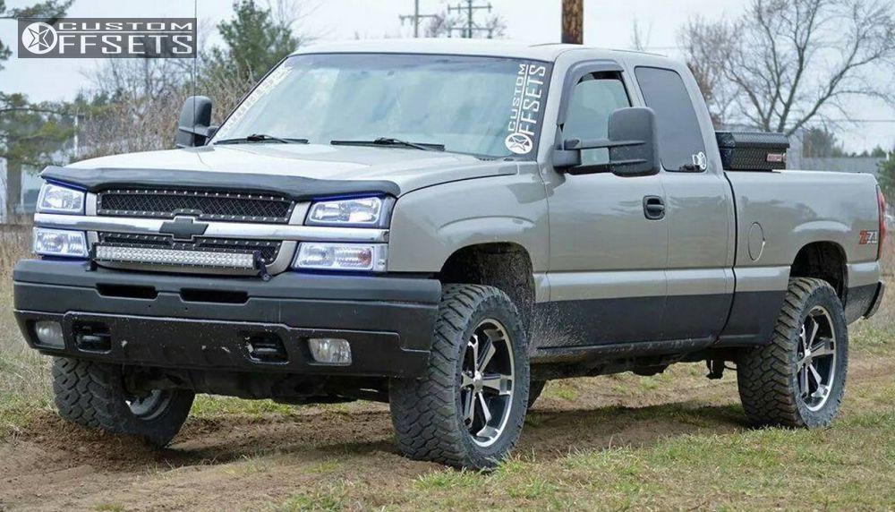 7 2003 Silverado 1500 Chevrolet Leveling Kit Body Lift Liquid Metal Dyno 6 Machined Accents Slightly Aggressive