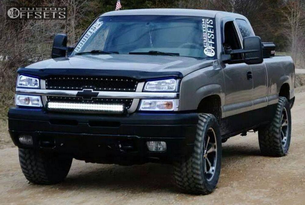 8 2003 Silverado 1500 Chevrolet Leveling Kit Body Lift Liquid Metal Dyno 6 Machined Accents Slightly Aggressive
