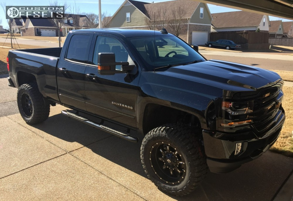 2017 Chevrolet Silverado 1500 Fuel Krank Fabtech Suspension Lift 6in