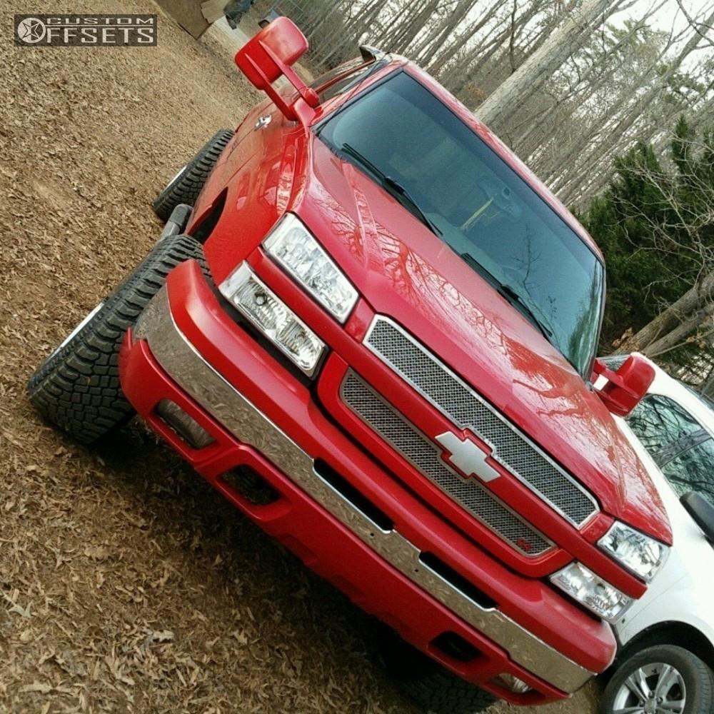 12 2004 Silverado 1500 Chevrolet Leveling Kit Gear Alloy Big Block Chrome Aggressive 1 Outside Fender