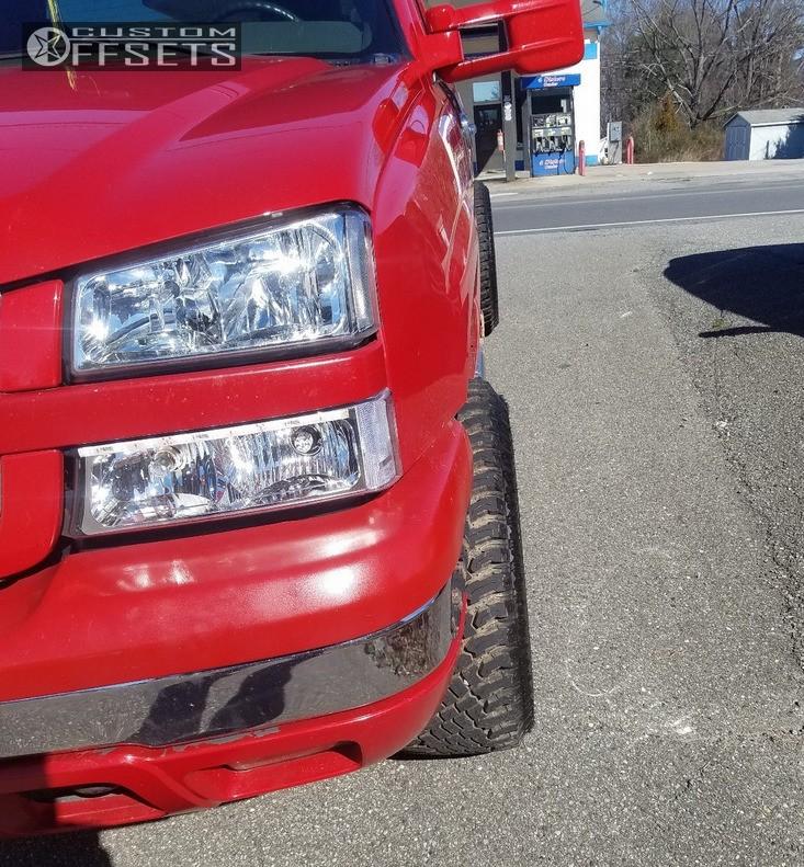 2 2004 Silverado 1500 Chevrolet Leveling Kit Gear Alloy Big Block Chrome Aggressive 1 Outside Fender