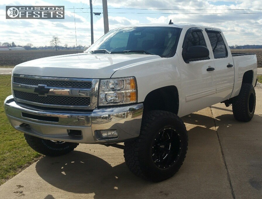 1 2012 Silverado 1500 Chevrolet Suspension Lift 75 Moto Metal Mo962 Black Hella Stance 5