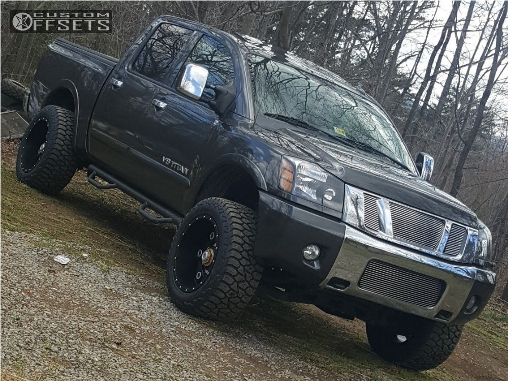 2010 nissan titan moto metal mo977 rough country for Suspension metal