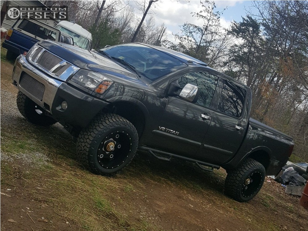 2010 nissan titan moto metal mo977 rough country suspension lift 4in. Black Bedroom Furniture Sets. Home Design Ideas