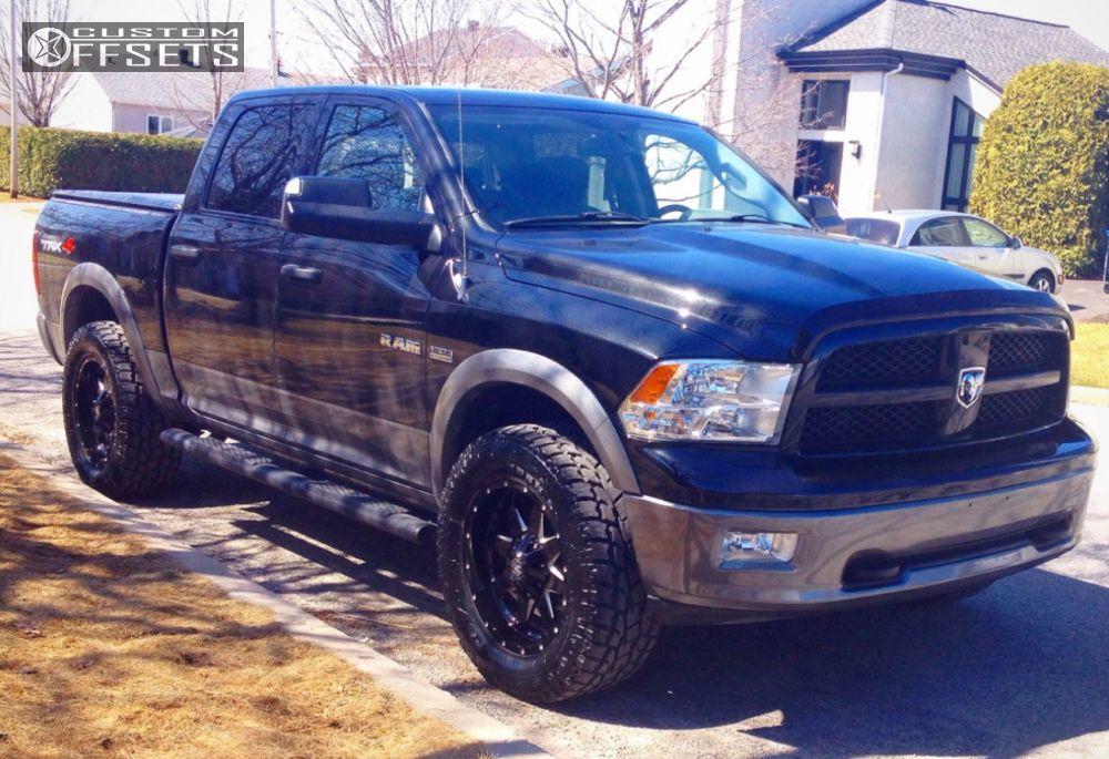 Ram Dodge Leveling Kit Mayhem Tank Black Aggressive Outside Fender on Dodge 1500 Rims