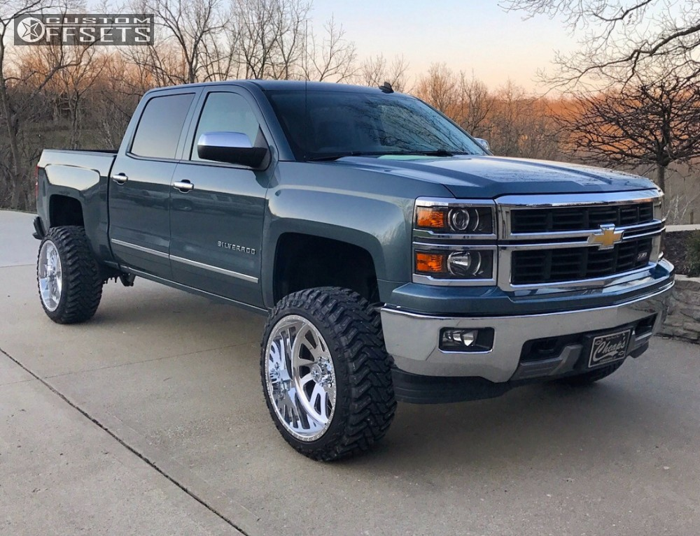 1 2014 Silverado 1500 Chevrolet Suspension Lift 5 American Force Octane Ss6 Chrome Super Aggressive 3 5