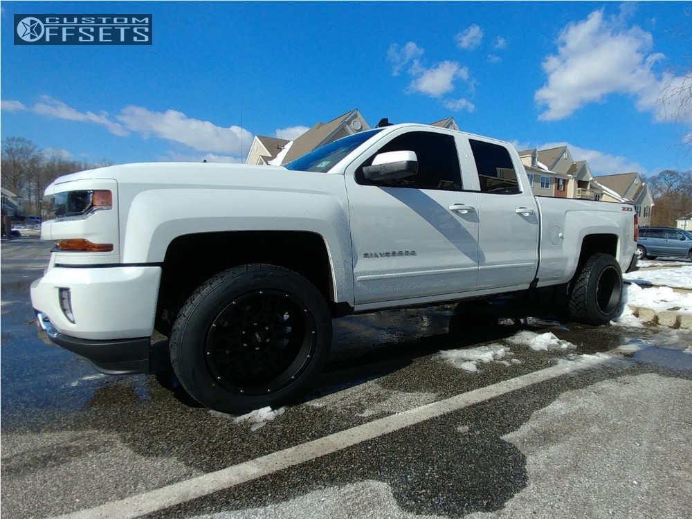 1 2016 Silverado 1500 Chevrolet Leveling Kit Vision Rocker Black Super Aggressive 3 5