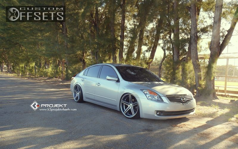 1 2009 Altima Nissan Dropped 3 K3 Projekt F2 Dual Concave Gunmetal Slightly Aggressive