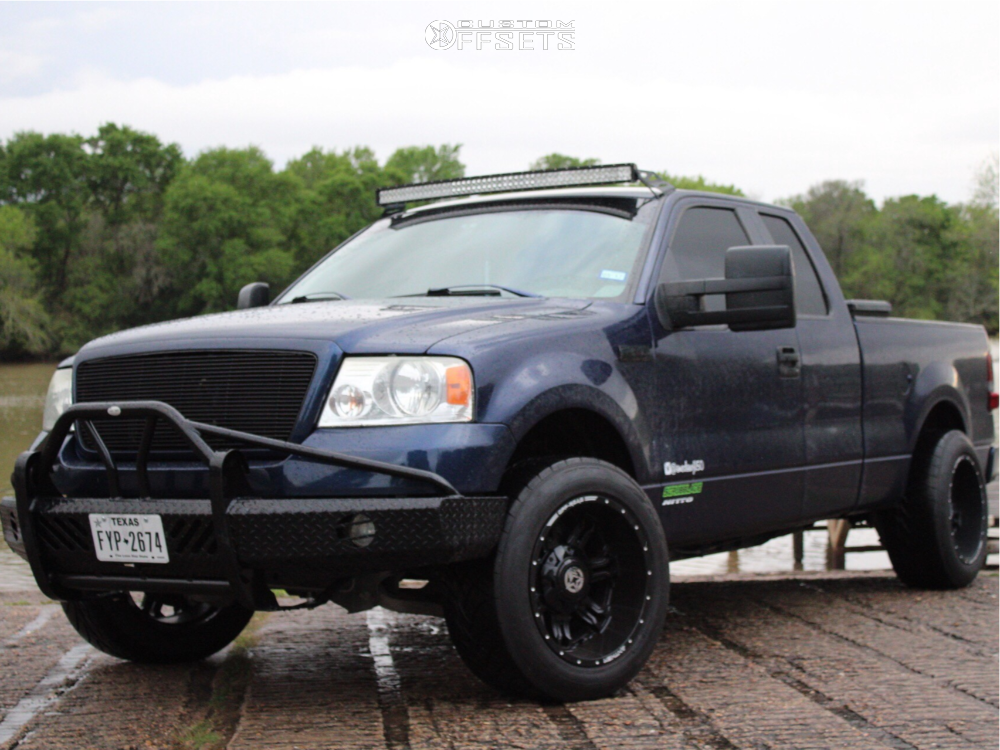 "2007 Ford F-150 Super Aggressive 3""-5"" on 20x12 -44 offset Anthem Off-Road Aviator and 305/55 Nitto NT420S on Stock Suspension - Custom Offsets Gallery"