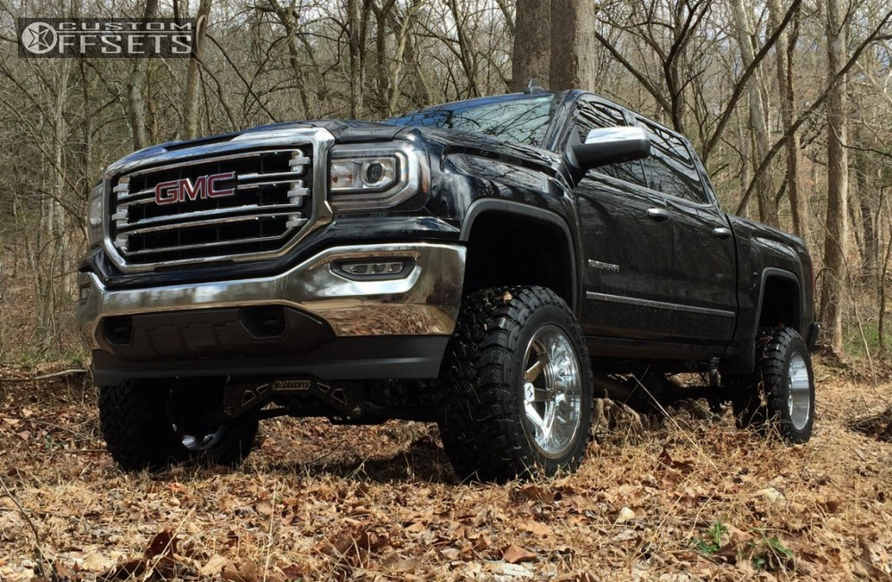 1 2016 Sierra 1500 Gmc Suspension Lift 8 Hostile Alpha Chrome Super Aggressive 3 5