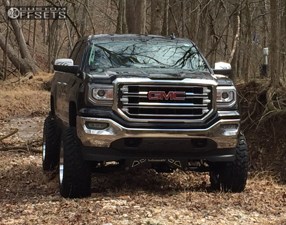2 2016 Sierra 1500 Gmc Suspension Lift 8 Hostile Alpha Chrome Super Aggressive 3 5