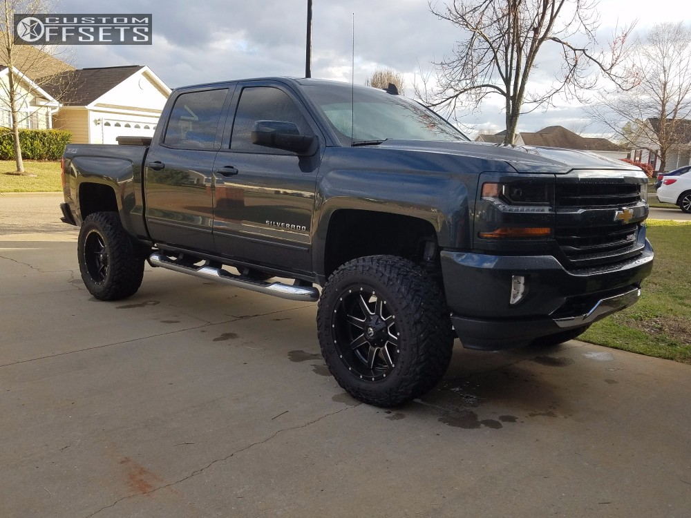 Wheel Offset 2017 Chevrolet Silverado 1500 Aggressive 1 Outside