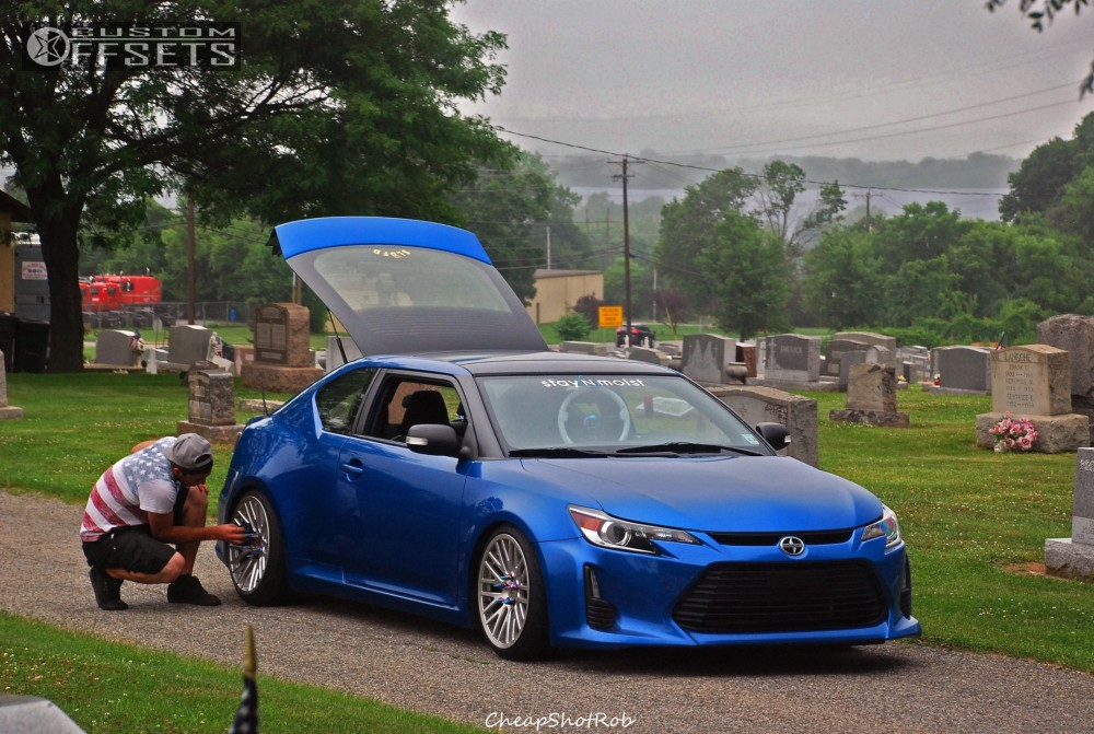 wheel offset 2014 scion tc nearly flush coilovers. Black Bedroom Furniture Sets. Home Design Ideas