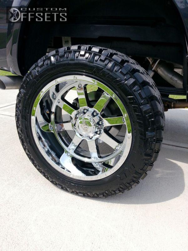 Wheel Offset 2013 Ram 2500 Aggressive 1 Outside Fender Suspension Lift 6 Custom Rims