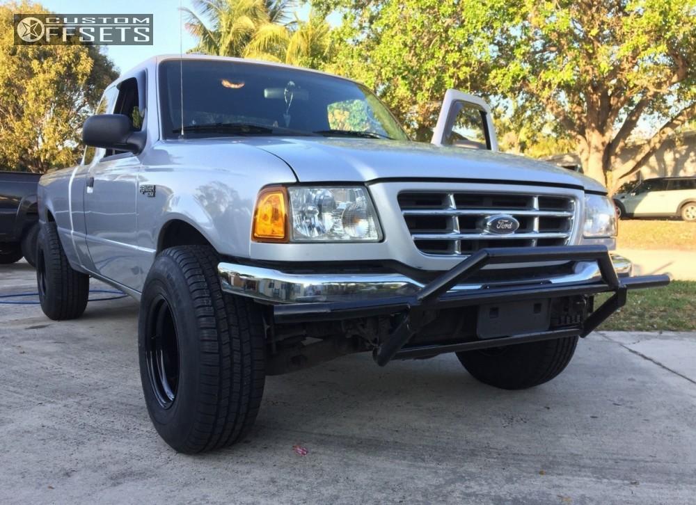 Ranger Ford Stock Pro Comp Black Aggressive Outside Fender