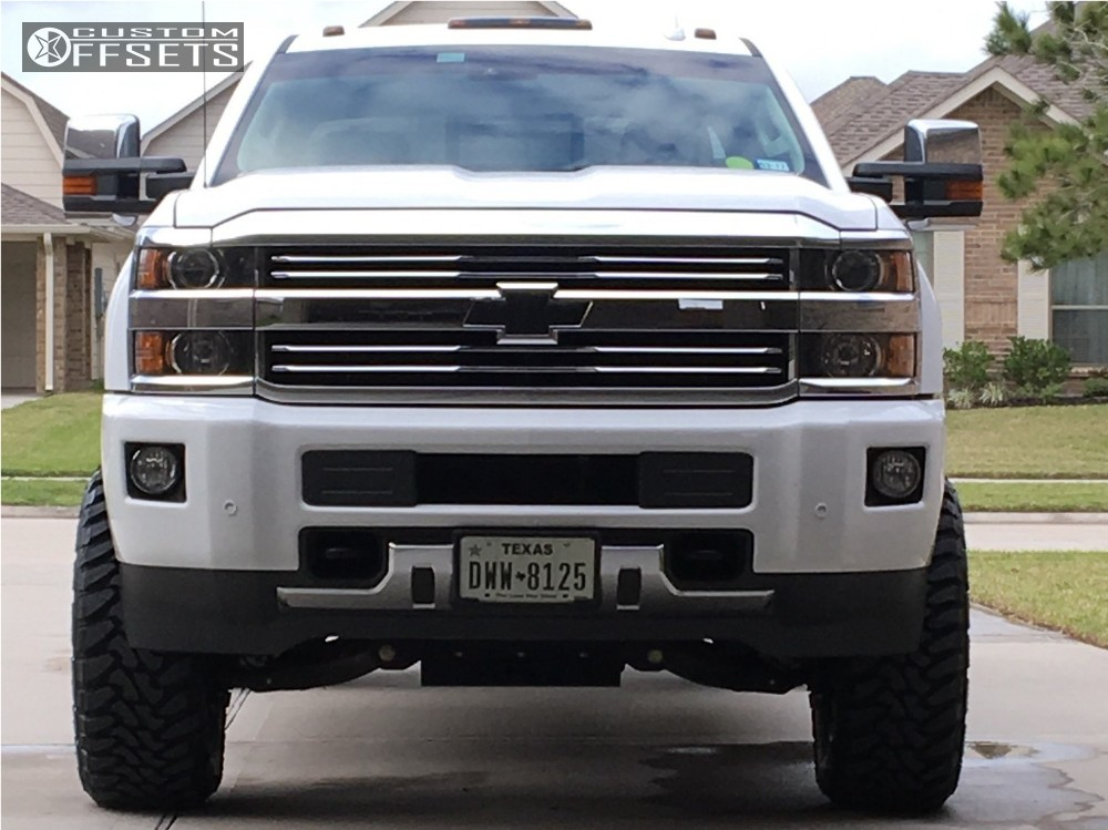 2 2015 Silverado 2500 Hd Chevrolet Suspension Lift 5 Fuel Turbo Black Aggressive 1 Outside Fender