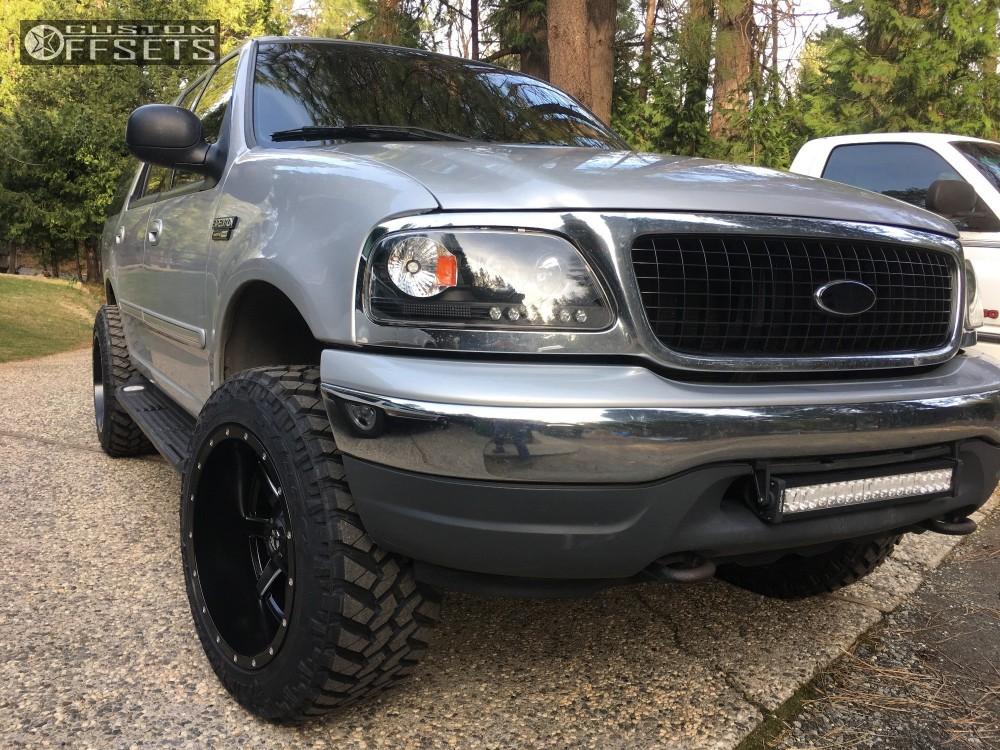 Expedition Ford Leveling Kit Fuel Maverick Black Aggressive  Outside Fender