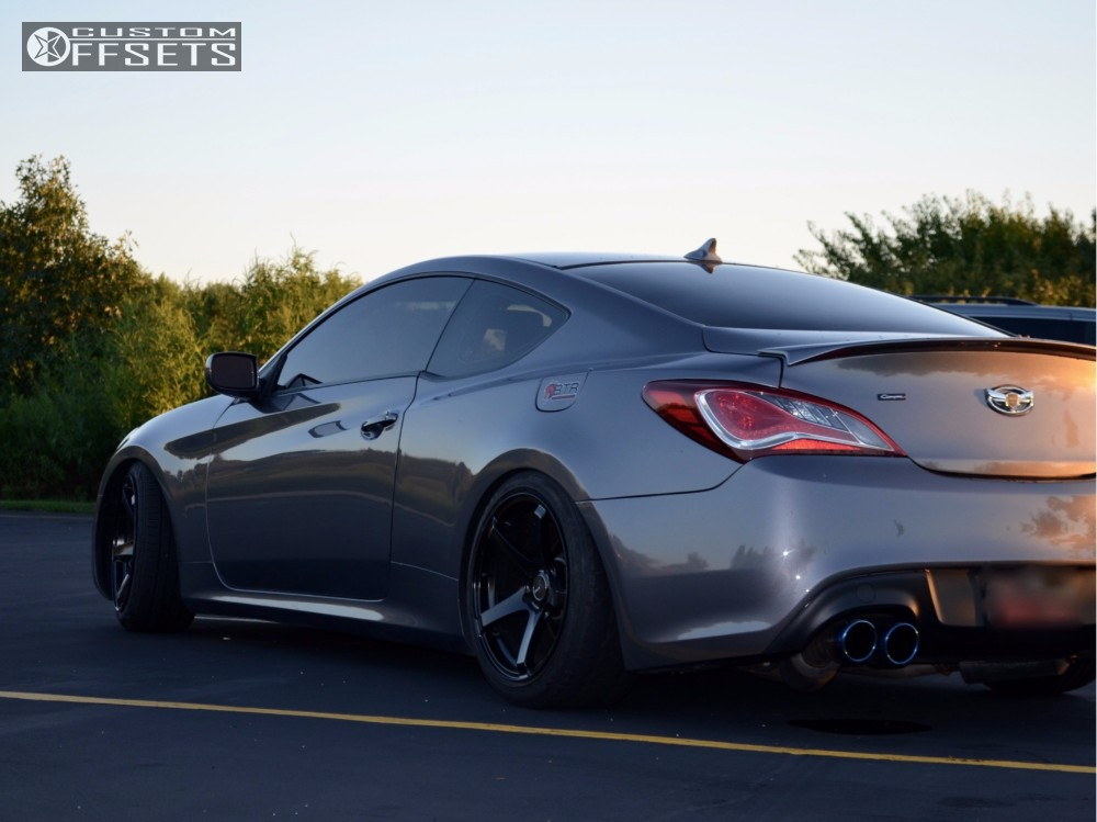 1 2011 Genesis Coupe Hyundai Coilovers Enkei Kojin Black Nearly Flush ...