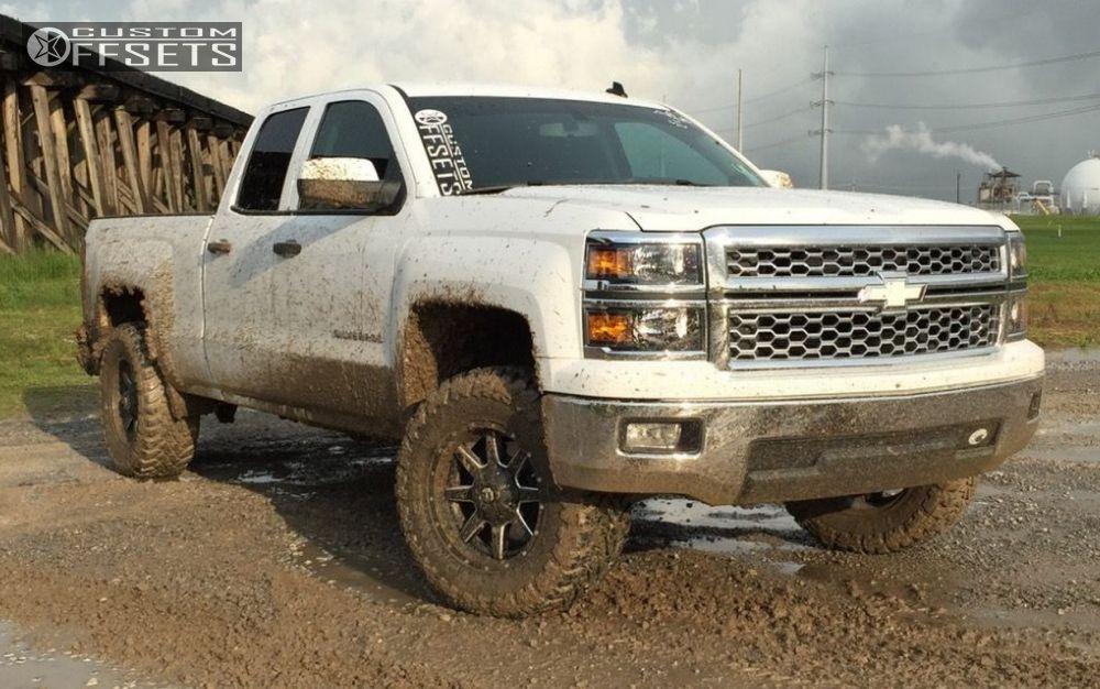 1 2014 Silverado 1500 Chevrolet Suspension Lift 35 Fuel Maverick Black Aggressive 1 Outside Fender