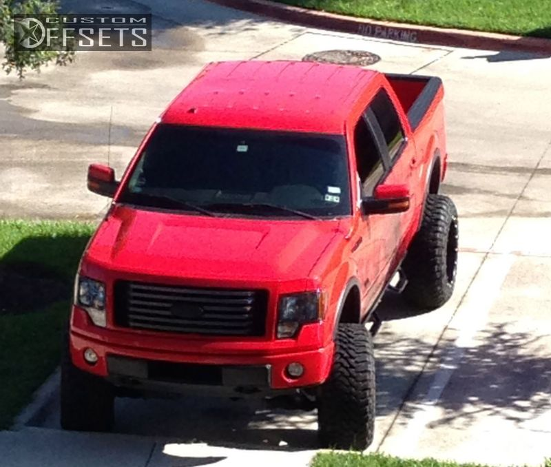 1966 3 2012 f 150 ford suspension lift 75 fuel hostage black super aggressive 3 - Red Ford F150 Lifted