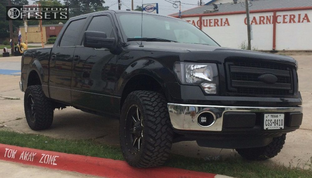 """2013 Ford F-150 Super Aggressive 3""""-5"""" on 20x9 1 offset Fuel Maverick and 33""""x12.5"""" Nitto Trail Grappler on Leveling Kit - Custom Offsets Gallery"""