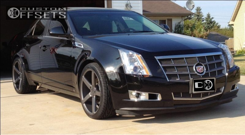 2009 cadillac cts vossen cv3 oem stock offsets garage. Black Bedroom Furniture Sets. Home Design Ideas