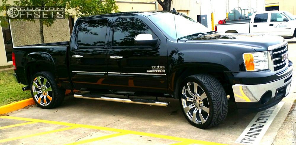 wheel offset 2013 gmc sierra 1500 flush level 2 drop rear. Black Bedroom Furniture Sets. Home Design Ideas