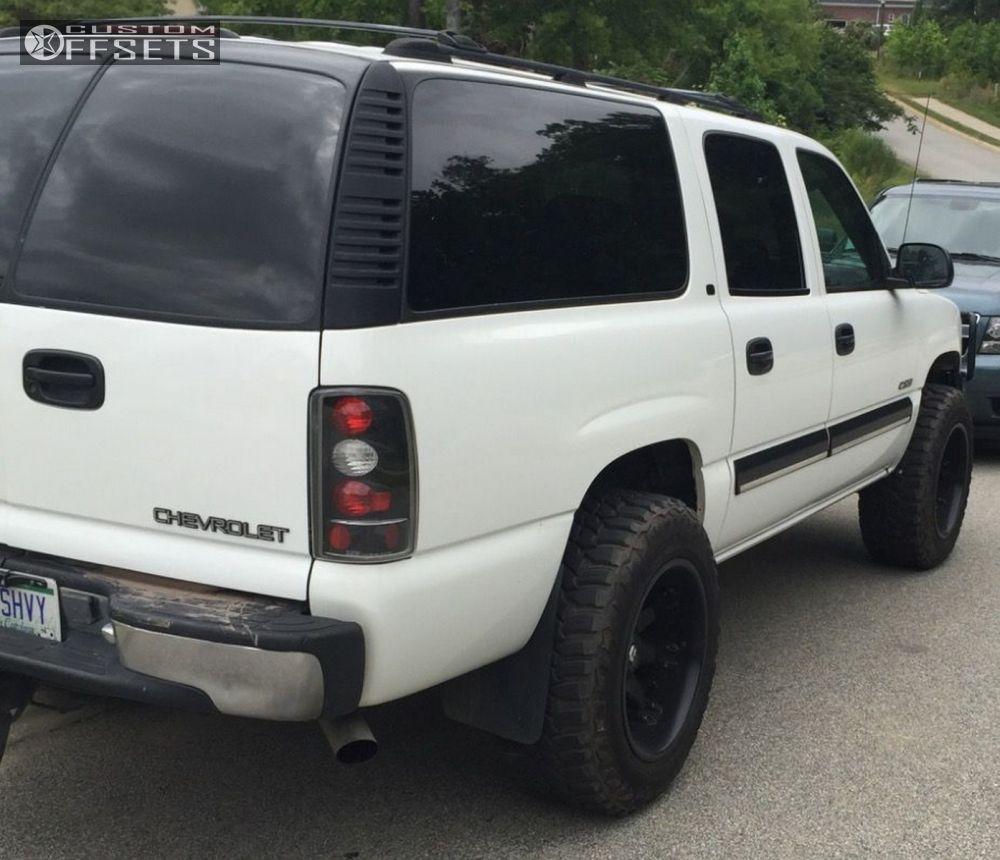 4 2000 suburban 1500 chevrolet body lift 3 fuels deep lip octane black super aggressive 3
