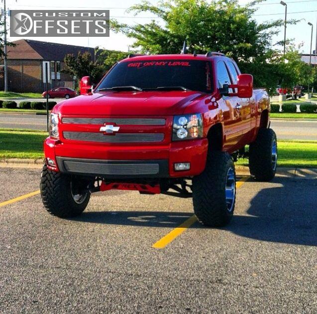 2008 Chevy Silverado Lifted >> Wheel Offset 2008 Chevrolet Silverado 1500 Hella Stance 5 Lifted 9 Custom Rims