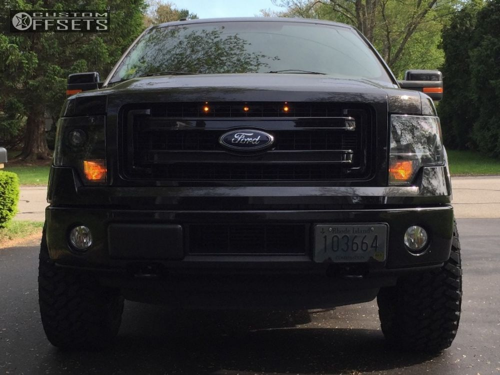 2 2013 F 150 Ford Leveling Kit Fuel Maverick Black Aggressive 1 Outside Fender