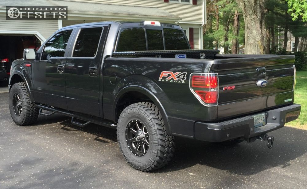 4 2013 F 150 Ford Leveling Kit Fuel Maverick Black Aggressive 1 Outside Fender