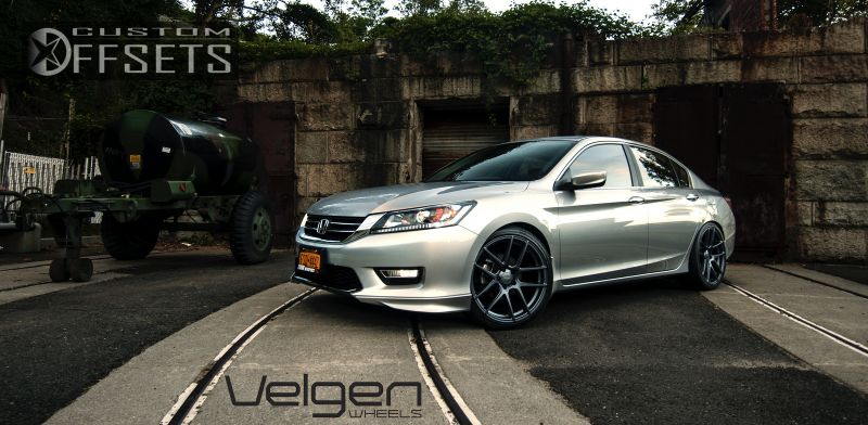 2013 honda accord velgen wheels vmb5 lowered on springs. Black Bedroom Furniture Sets. Home Design Ideas