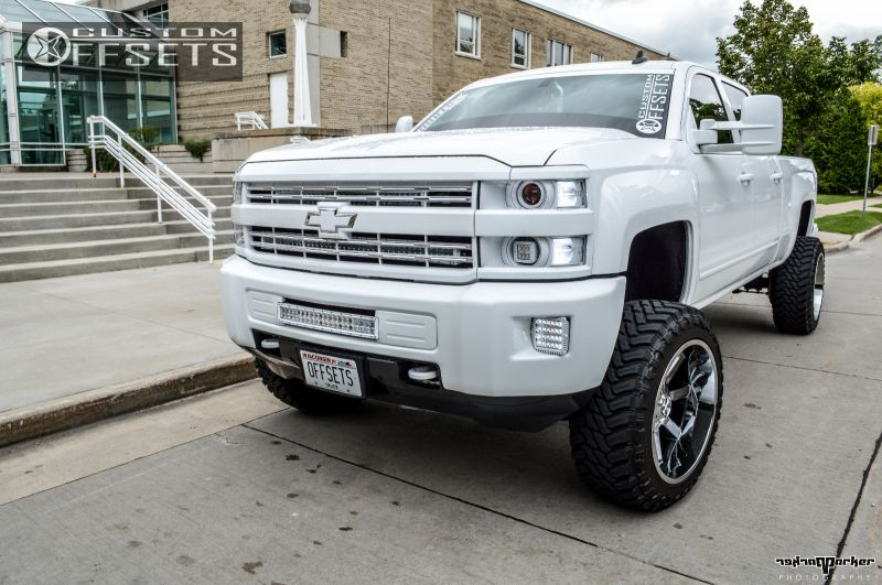 Wheel Offset 2015 Chevrolet Silverado 2500 Hd Hella Stance 5 Suspension Lift 5 Custom Rims