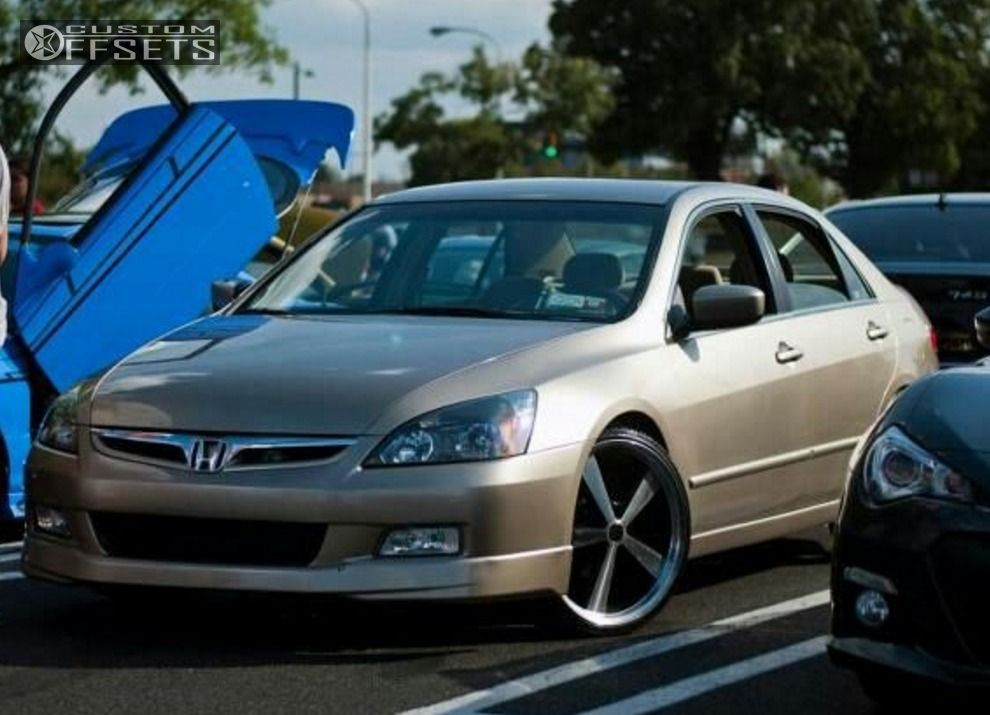 "Honda Accord Tires >> Wheel Offset 2003 Honda Accord Dropped 1 3"" Custom Rims"