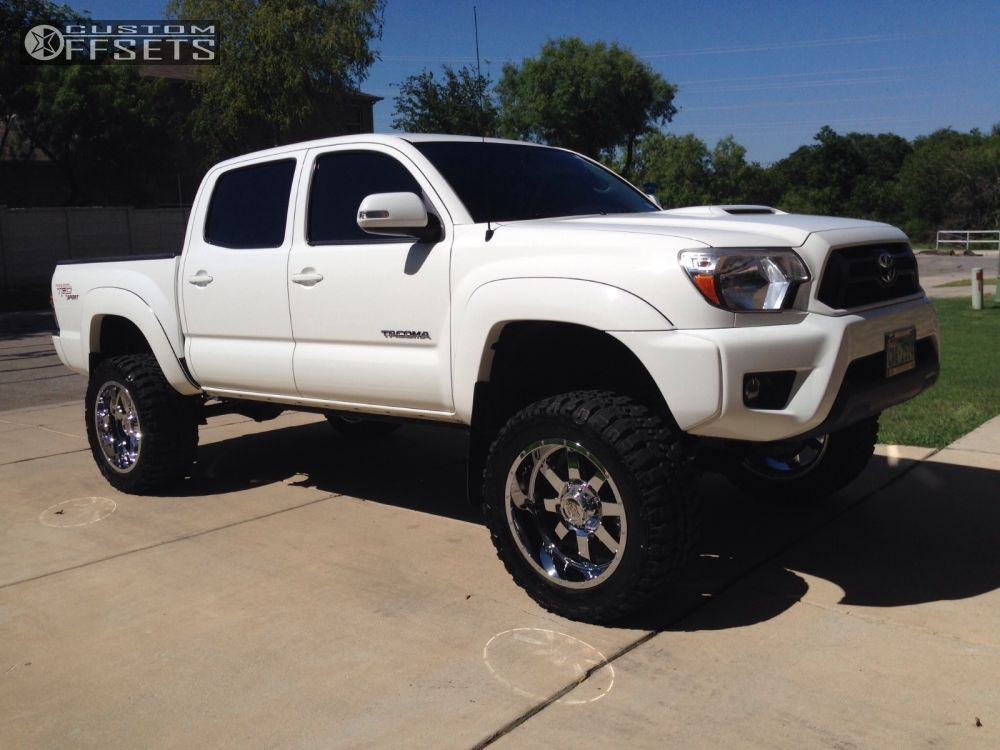 1 2012 Tacoma Toyota Suspension Lift 6 Gear Alloy Big Block Chrome Aggressive 1 Outside Fender